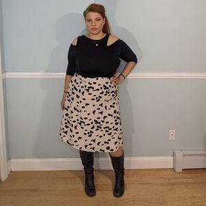 Pink and black midi skirt plus size 16